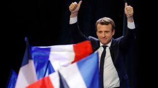 Le président Emmanuel Macron dont le parti est en phase d'obtenir la majorité au Palais Bourbon.