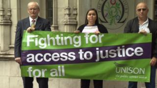Protest over tribunal fees