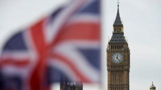 Union Jack flying at Parliament