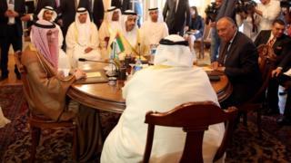 اجتماع وزراء خارجية السعودية والإمارات ومصر والبحرين