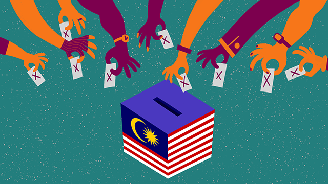 Illustration of youth voting