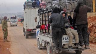 Halep'ten tahliye olanlar