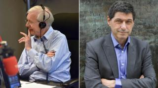 Composite image showing John Humphrys and Jon Sopel
