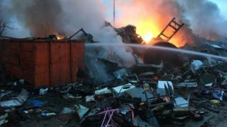 Fire at scrap metal yard in Great Rollright