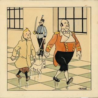Rare Tintin drawing bin sells for auction