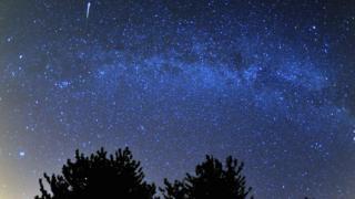 Perseid meteor shower in August 2013