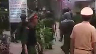 Đã xãy ra đối ầu giữa người dân Đồng Tâm với công an hôm thứ Bảy 15/4