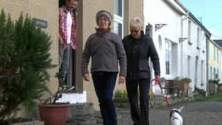 Moira Johnston offers Simon Thomas respite while she goes for a walk with his mother Maggie