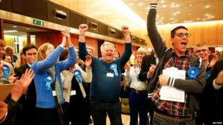 Tory activists celebrate holding onto Wandsworth council