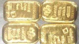 Gold bars seized by Bangladeshi customs