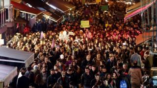 İstanbul'daki protesto