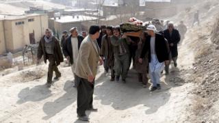 تشییع جنازه در کابل