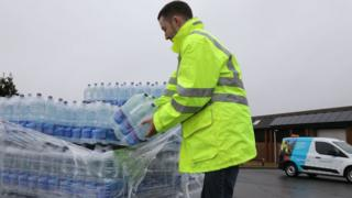 South East Water providing bottled water to customers