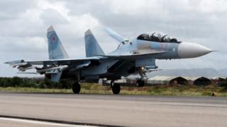 Sukhoi Su-35 bombardmançısı