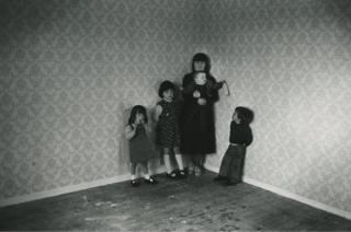 Catholic family after the bailiffs, The Cregan Derry, Northern Ireland, 1978