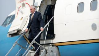 Госсекретарь США Рекс Тиллерсон прибыл в Китай
