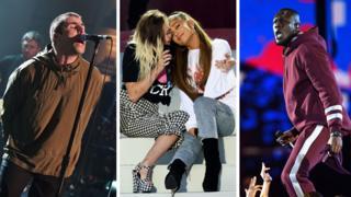 Liam Gallagher, Miley Cyrus, Ariana Grande and Stormzy