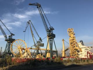 Greenock docks