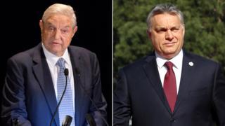 У Джорджа Сороса (ліворуч) і Віктора Орбана (праворуч) напружені стосунки