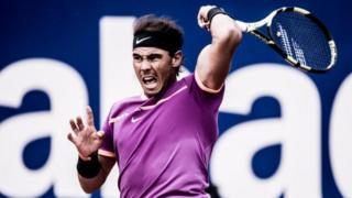 Rafael Nadal for tennis court