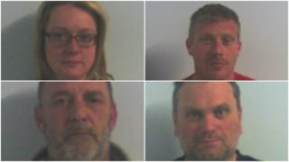 Siobhan Jackson, Leigh Salter, James Bolton and Andrew Davies were part of a gang that 'destroyed lives'