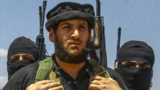 An undated picture taken from an online edition of the Islamic State's weekly magazine al-Naba, purportedly showing Abu Muhammad al-Adnani (31 August 2016)