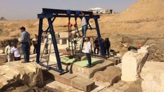 Sitio del descubrimiento en Egipto