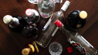 Bottles of booze