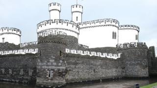 Beaumaris Castle's south west tower