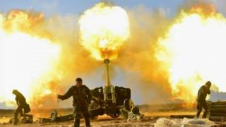 Popular Mobilization forces fire at IS in western Mosul (28/12/16)