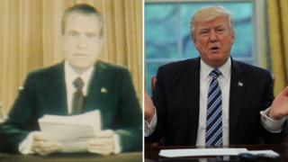 Nixon and trump in White House