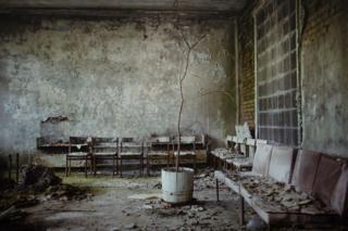 Фойе больницы в Припяти