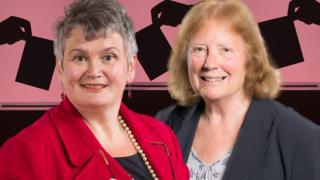 Carolyn Harris a Julie Morgan