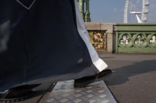 Shoes on the bridge