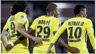 Cavani, Mbappe na Neymar