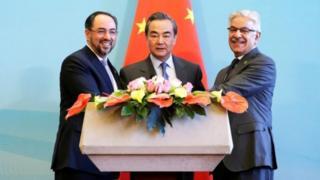 चीन, अफ़ग़ानिस्तान और पाकिस्तान के विदेश मंत्री