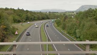 A55 at junction 11