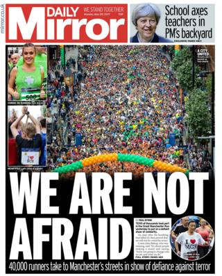 Daily Mirror front page - 29/05/17