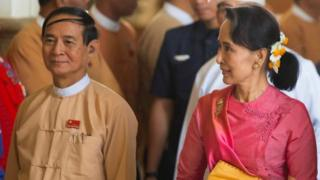 Win Myint waxaa lagu tilmaamaa inuu jaal dhow la yahay Aung San Suu Kyi