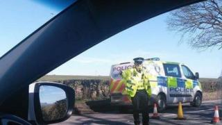 Policeman at scene