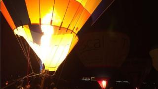 Balloons lit up