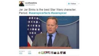 "@ScotHawkins: ""Jar Jar Binks is the best Star Wars character. Period."""