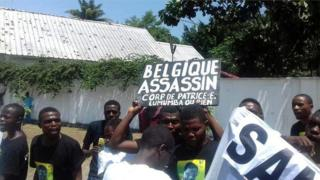 Protestataires à Kinshasa