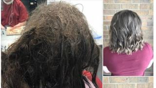 Hairdresser transforms teen's hair