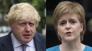 Boris Johnson and Nicola Sturgeon