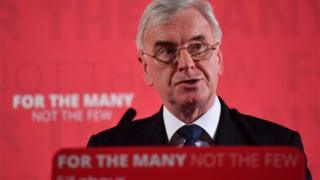 John McDonnell delivers his speech