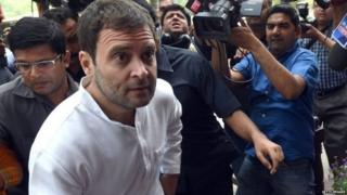 Rahul Gandhi among media persons