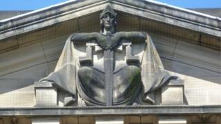 Justice symbol at High Court in Edinburgh
