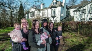 Mothers outside Ingleside