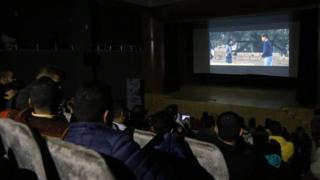 Screening of a movie in Gaza